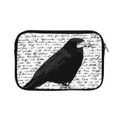 Black Raven  Apple Ipad Mini Zipper Cases by Valentinaart
