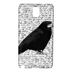 Black Raven  Samsung Galaxy Note 3 N9005 Hardshell Case by Valentinaart