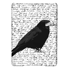 Black Raven  Ipad Air Hardshell Cases by Valentinaart