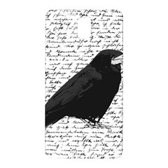 Black Raven  Samsung Galaxy Note 3 N9005 Hardshell Back Case by Valentinaart