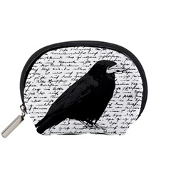 Black Raven  Accessory Pouches (small)  by Valentinaart