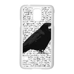 Black Raven  Samsung Galaxy S5 Case (white) by Valentinaart