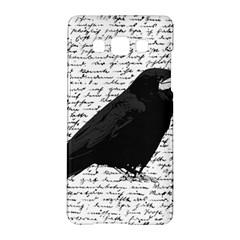 Black Raven  Samsung Galaxy A5 Hardshell Case  by Valentinaart