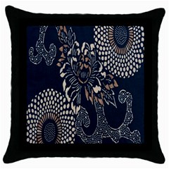 Patterns Dark Shape Surface Throw Pillow Case (black) by Simbadda