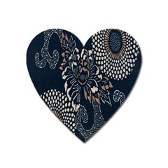 Patterns Dark Shape Surface Heart Magnet by Simbadda