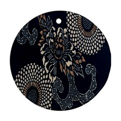 Patterns Dark Shape Surface Round Ornament (two Sides) by Simbadda