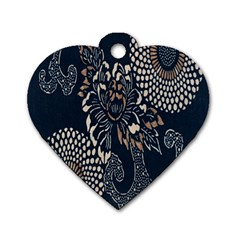 Patterns Dark Shape Surface Dog Tag Heart (one Side) by Simbadda