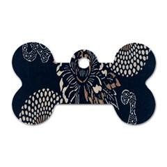 Patterns Dark Shape Surface Dog Tag Bone (one Side) by Simbadda