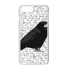 Black Raven  Apple Iphone 7 Plus White Seamless Case by Valentinaart
