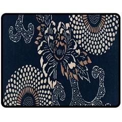 Patterns Dark Shape Surface Fleece Blanket (medium)  by Simbadda