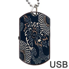 Patterns Dark Shape Surface Dog Tag Usb Flash (two Sides) by Simbadda