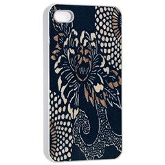 Patterns Dark Shape Surface Apple Iphone 4/4s Seamless Case (white) by Simbadda