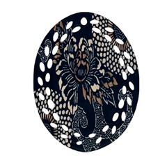Patterns Dark Shape Surface Ornament (oval Filigree) by Simbadda