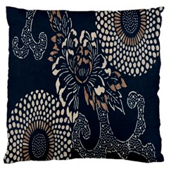 Patterns Dark Shape Surface Large Cushion Case (one Side) by Simbadda