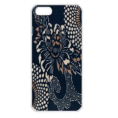 Patterns Dark Shape Surface Apple Iphone 5 Seamless Case (white) by Simbadda