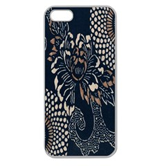 Patterns Dark Shape Surface Apple Seamless Iphone 5 Case (clear)