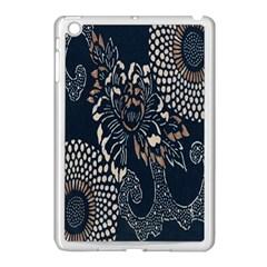 Patterns Dark Shape Surface Apple Ipad Mini Case (white) by Simbadda