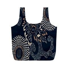 Patterns Dark Shape Surface Full Print Recycle Bags (m)  by Simbadda