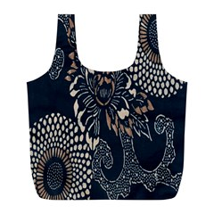 Patterns Dark Shape Surface Full Print Recycle Bags (l)  by Simbadda