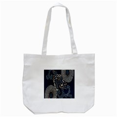 Patterns Dark Shape Surface Tote Bag (white) by Simbadda