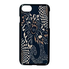 Patterns Dark Shape Surface Apple Iphone 7 Seamless Case (black) by Simbadda