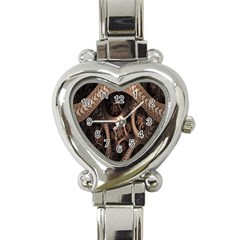 Patterns Dive Background Heart Italian Charm Watch by Simbadda