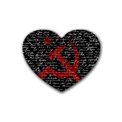 Communism  Rubber Coaster (heart)  by Valentinaart