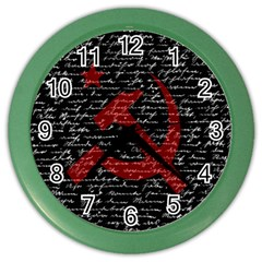 Communism  Color Wall Clocks by Valentinaart