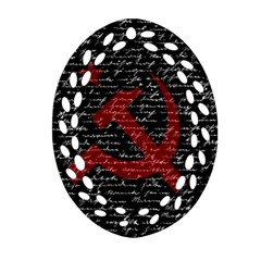 Communism  Oval Filigree Ornament (two Sides) by Valentinaart