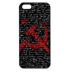 Communism  Apple Iphone 5 Seamless Case (black) by Valentinaart