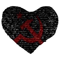 Communism  Large 19  Premium Heart Shape Cushions by Valentinaart