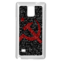 Communism  Samsung Galaxy Note 4 Case (white) by Valentinaart