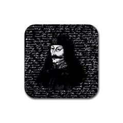Count Vlad Dracula Rubber Square Coaster (4 Pack)  by Valentinaart
