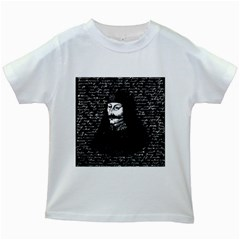 Count Vlad Dracula Kids White T Shirts by Valentinaart