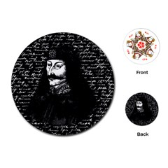 Count Vlad Dracula Playing Cards (round)  by Valentinaart