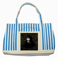 Count Vlad Dracula Striped Blue Tote Bag by Valentinaart