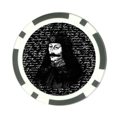 Count Vlad Dracula Poker Chip Card Guard by Valentinaart