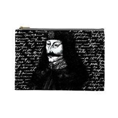 Count Vlad Dracula Cosmetic Bag (large)  by Valentinaart
