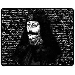 Count Vlad Dracula Fleece Blanket (medium)  by Valentinaart