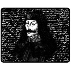 Count Vlad Dracula Double Sided Fleece Blanket (medium)  by Valentinaart
