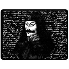 Count Vlad Dracula Double Sided Fleece Blanket (large)  by Valentinaart