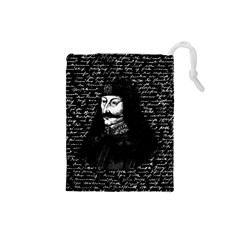 Count Vlad Dracula Drawstring Pouches (small)  by Valentinaart