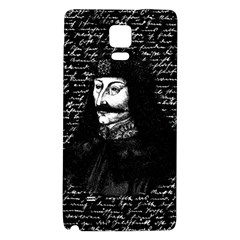 Count Vlad Dracula Galaxy Note 4 Back Case by Valentinaart