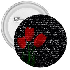 Red Tulips 3  Buttons by Valentinaart