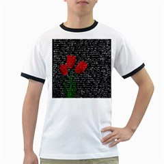 Red Tulips Ringer T Shirts by Valentinaart