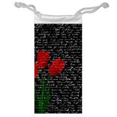 Red Tulips Jewelry Bag by Valentinaart
