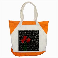 Red Tulips Accent Tote Bag by Valentinaart