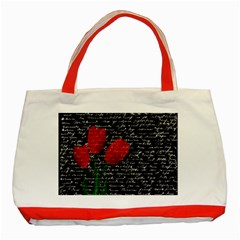 Red Tulips Classic Tote Bag (red) by Valentinaart
