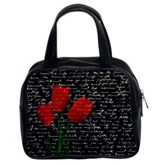 Red Tulips Classic Handbags (2 Sides) by Valentinaart