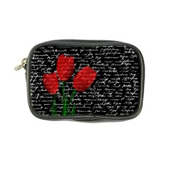 Red Tulips Coin Purse by Valentinaart